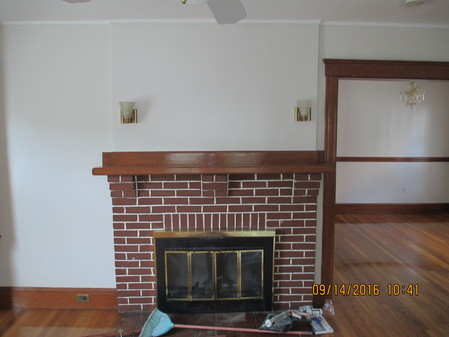 Fire Place Dining Room to Righ